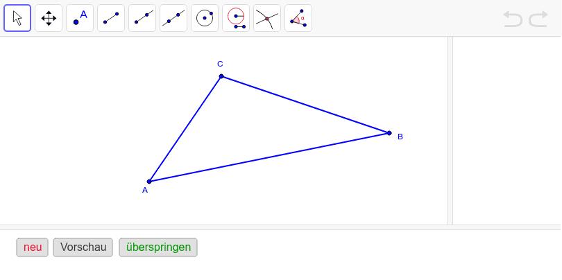 Konstruiere den Inkreis des Dreiecks ABC.