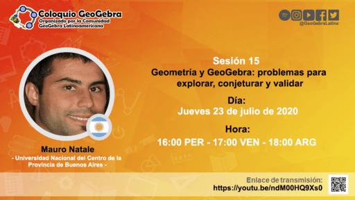 ¡Evento en vivo sobre Geometría y GeoGebra!