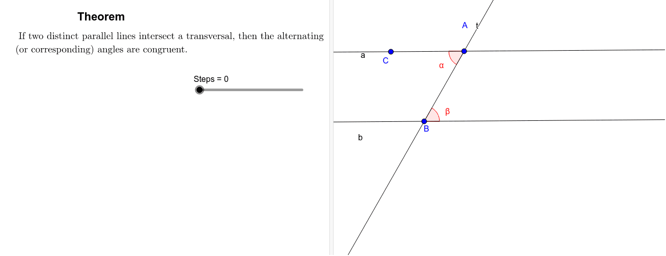 Alternate Interior Angle Theorem (Alternate for the previous theorem) Press Enter to start activity