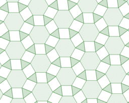 LMOrigami18 Equilateral triangles, squares and regular hexagons Tessellation Variable Animation