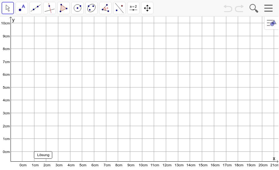 Dreieck 5: A(0/9), B(10/1), C(9/9): Zeichne das Dreieck und konstruiere den Umkreis. Füge den Screenshot der Koordinaten von U im Auftrag in Teams ein! Drücke die Eingabetaste um die Aktivität zu starten