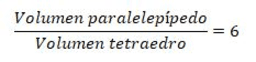 Relación Volumen tetraedro-prisma