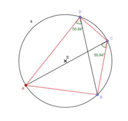 Úhly v tětivovém čtyřúhelníku 2