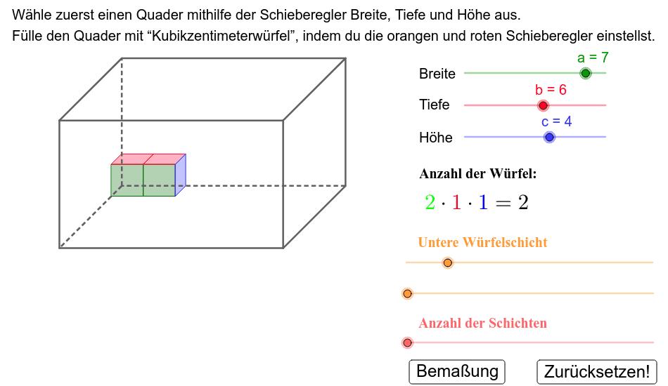 volume of cuboid Drücke die Eingabetaste um die Aktivität zu starten