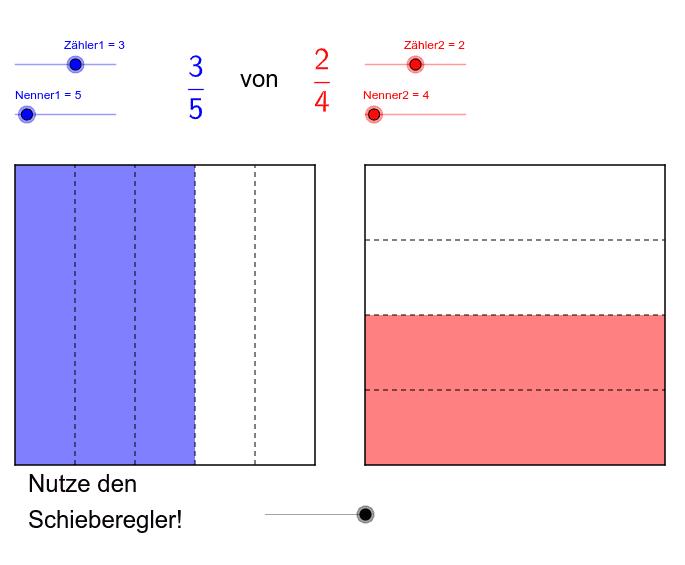 Veranschaulichung: Multiplikation von Brüchen Drücke die Eingabetaste um die Aktivität zu starten