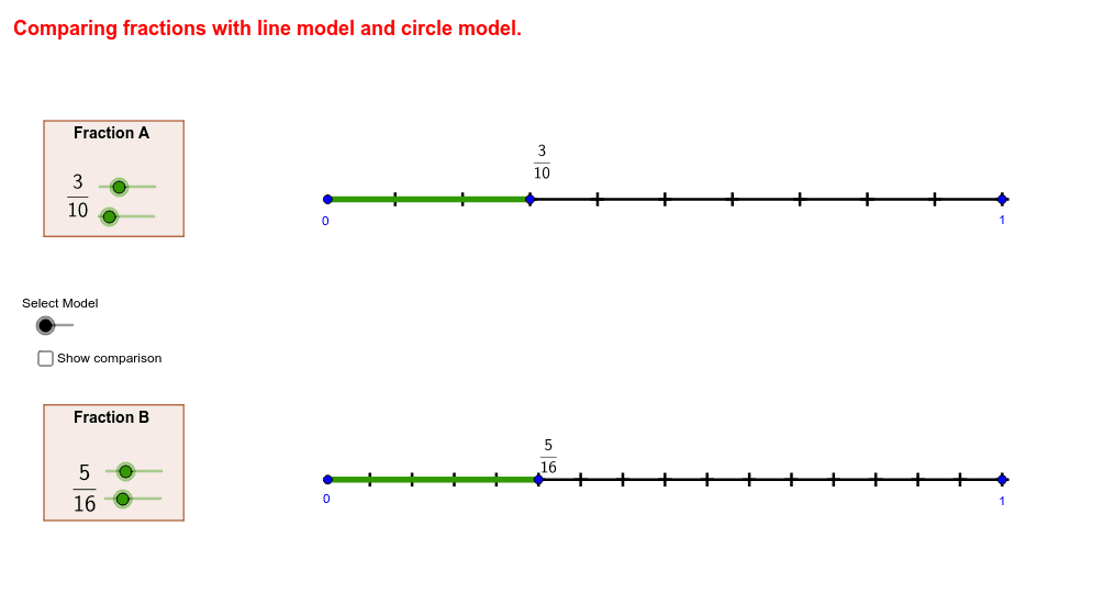 Compare Fractions on a Number Line