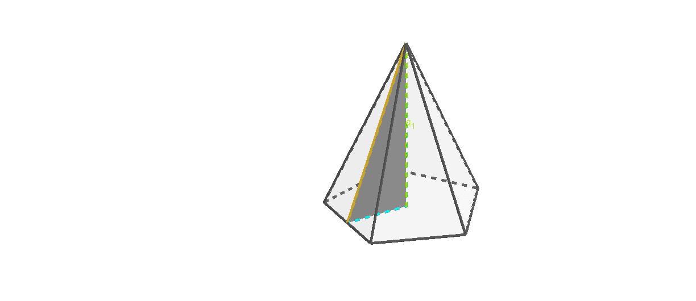 """La hauteur de la pyramide, l'arête de la pyramide et l'apothème de la base Tapez """"Entrée"""" pour démarrer l'activité"""