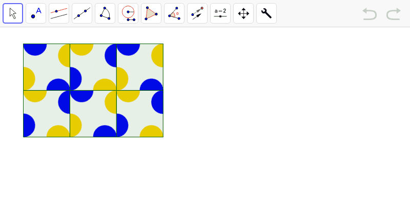 Replica el siguiente mosaico utilizando las herramientas dadas. Presiona Intro para comenzar la actividad