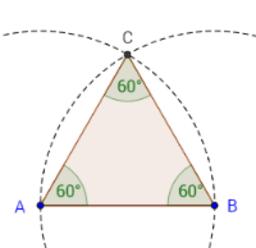 Constructie van een gelijkzijdige driehoek