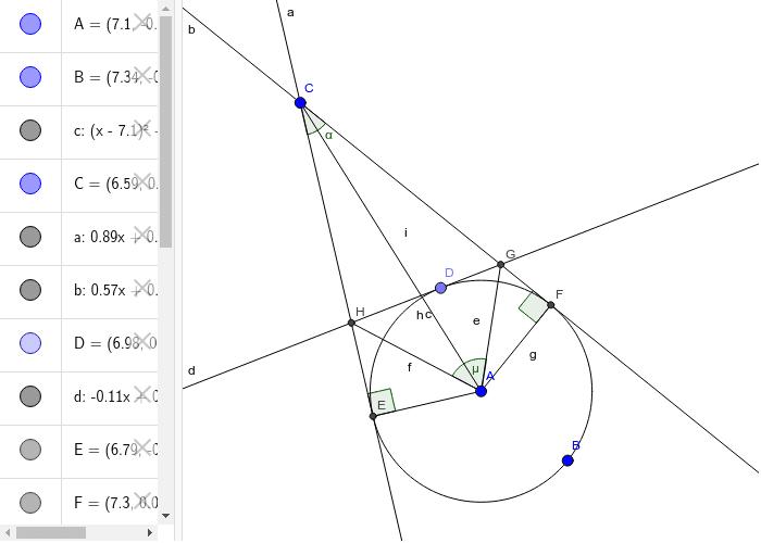 Frommenwiler. Geometrie. Aufgabe 16. Aufgabe: Berechnen µ aus α