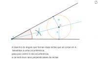 Circunferencia tanxente a dúas rectas que forman un ángulo.
