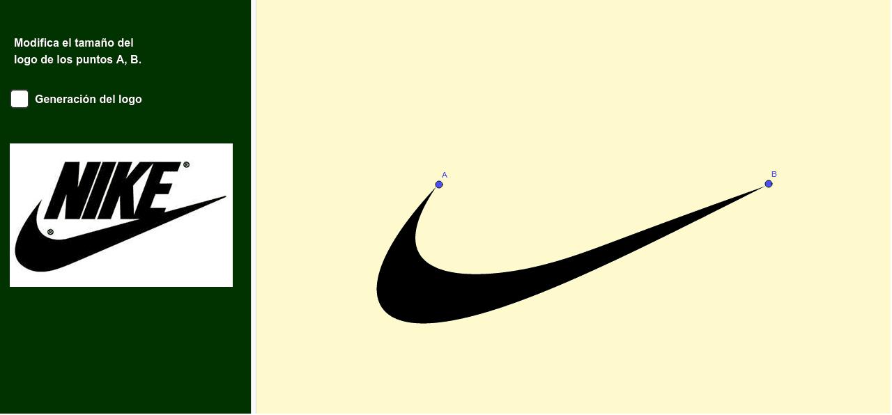 Logo Nike Bezier Geogebra
