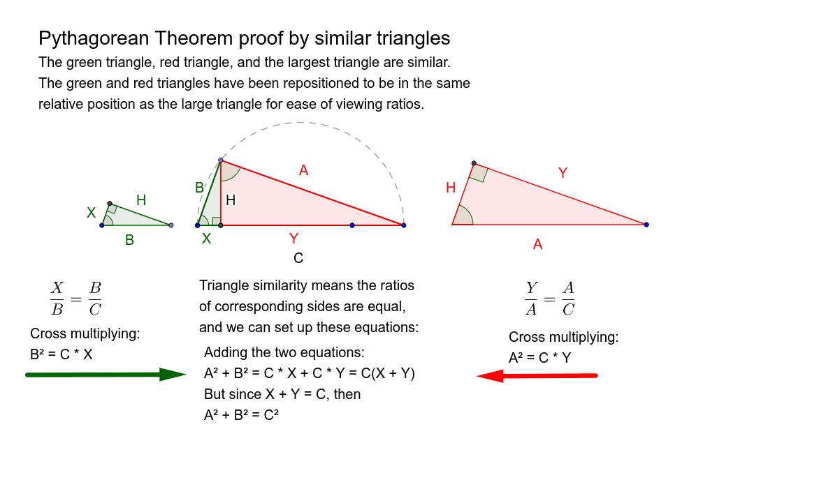 3. Bill Lumbard Similar Triangle Proof of Pythagorean Theorem