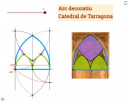 Arc decoratiu de la Catedral de Tarragona. 1a part
