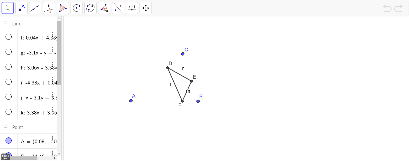 The orthic triangle is the triangle built from the feets of the altitudes of a given triangle. When it is equilateral? Press Enter to start activity