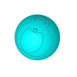 Lissajou sur sphère