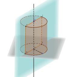 Осьовий переріз циліндра
