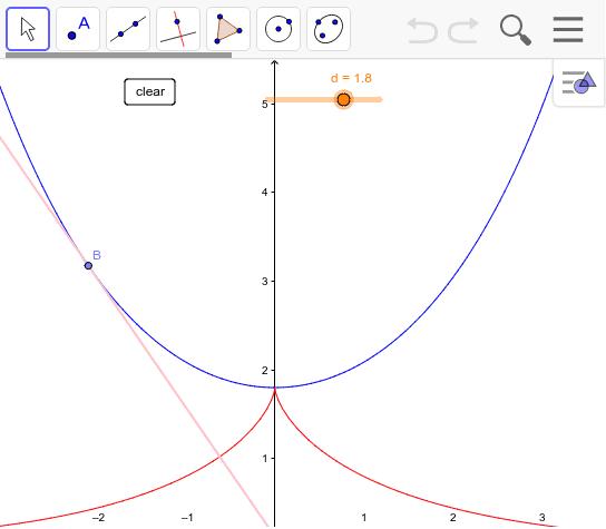 追跡線の法線の包絡線は懸垂線となる。