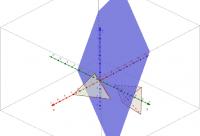 Spiegel de piramide in een vlak: 3D