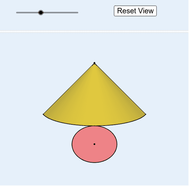 By this activity you will explore the net of cone Press Enter to start activity