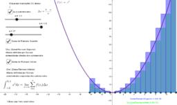 Integral por aproximação f(x)=x²
