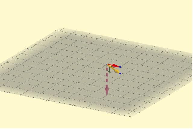 Visualización del producto vectorial para ángulo variable.