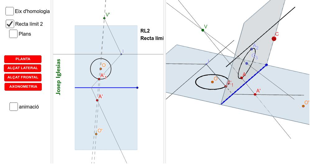 Homologia d'una CIRCUMFERÈNCIA - 2D i 3D