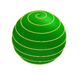 Espirals a sobre d'una pilota