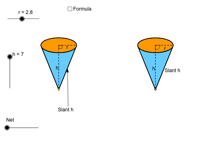 Net of a cone Press Enter to start activity