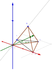 Tetraeder und Winkel