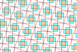 Pythagorean Theorem by Tessellation # 90 tiling