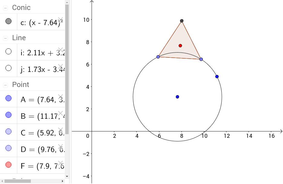 軌跡觀察---圓上正三角形中心軌跡