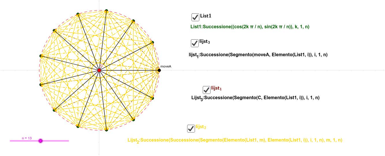 forum:sequence command to draw all the diagonals of a regular polygon Premi Invio per avviare l'attività