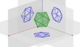 Projeções Ortogonais de um Icosaedro
