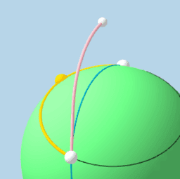 Copy of Shortest Path Between 2 Points on a Sphere