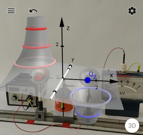 Aufnahme eines AR-Experiments mit diesem Modell
