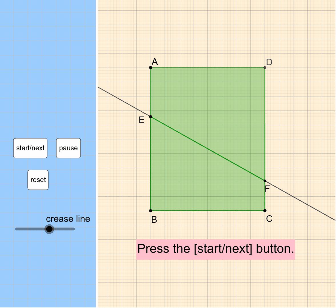 First, [start/next] → [move the slider].  ※ 画面では ∽ → ~ (チルダ)になっています。(欧米仕様) ワークシートを始めるにはEnter キーを押してください。