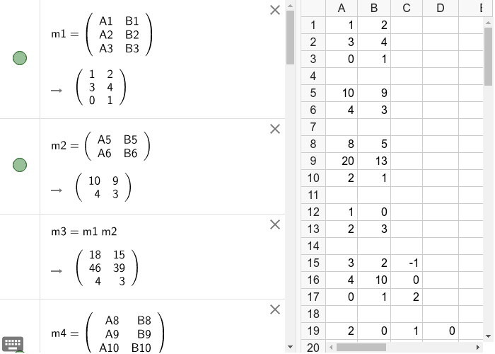 Matrices:cálculo de producto,inversas y determinantes. Presiona Intro para comenzar la actividad