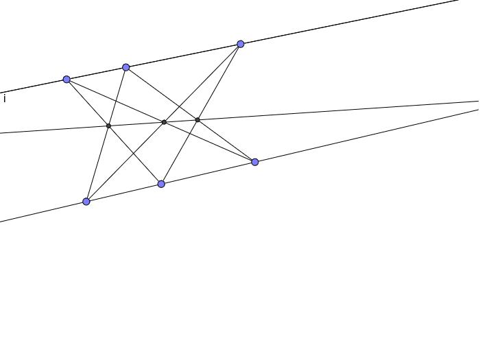 Undersøg om de tre skæringspunkter altid ligger på linje