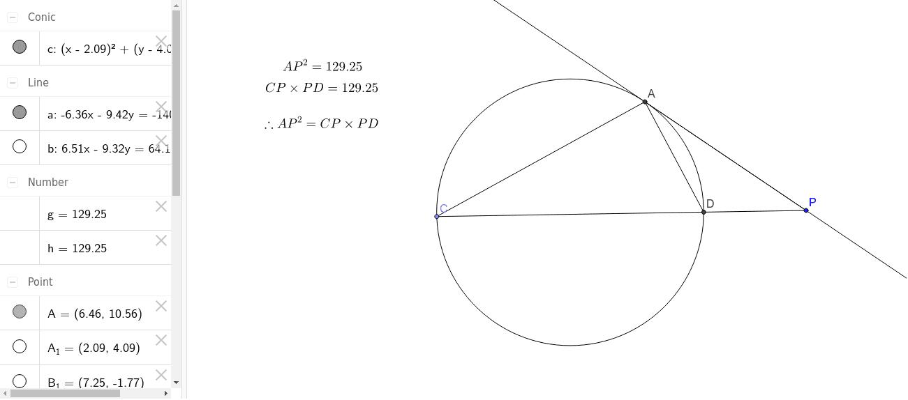 one chord becomes tangent  u2013 geogebra