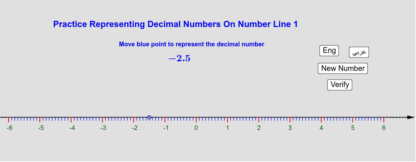 Case of decimal numbers with decimal part of 1 digit  حالة الأعداد العُشرية التي يتكوّن جزؤها العُشري من رقم واحد Press Enter to start activity