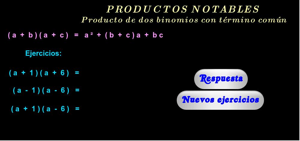 """Ejercicios ( haga click en """"Respuesta"""" y """"Nuevos ejercicios"""" )."""