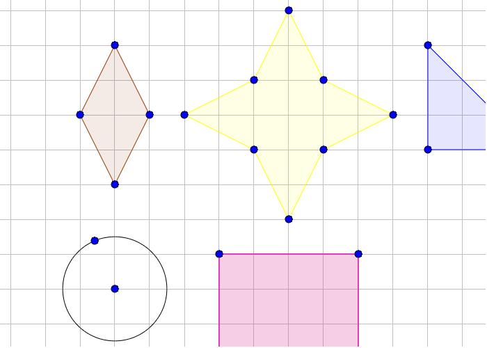 Finn symmetrilinjene til mangekantene. Press Enter to start activity