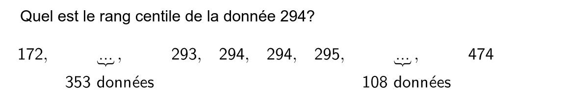 """Question 2: Quel est le rang centile recherché? Tapez """"Entrée"""" pour démarrer l'activité"""