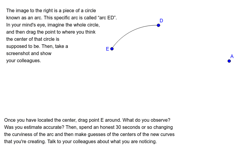 Arcs and Angles: Part 1