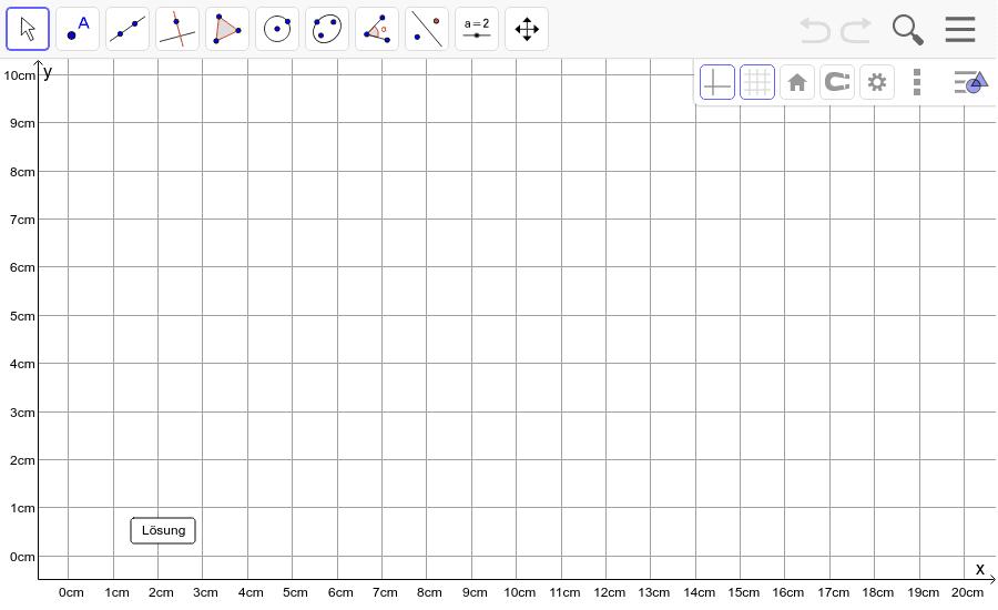 Dreieck 5: A(0/9), B(9/1), C(9/9): Zeichne das Dreieck und konstruiere den Höhenschnittpunkt H. Füge den Screenshot der Koordinaten von H im Auftrag in Teams ein! Drücke die Eingabetaste um die Aktivität zu starten
