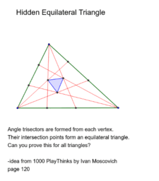 Hidden Equilateral Triangle