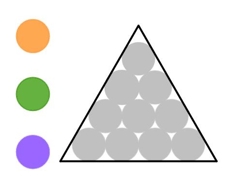 Clique no interior de cada círculo para mudar sua cor. Pressione Enter para iniciar a atividade