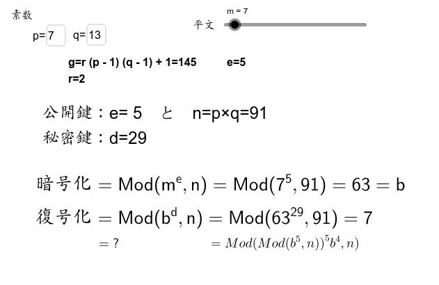 平文を暗号化してまた元へ戻すアルゴリズム。 Press Enter to start activity