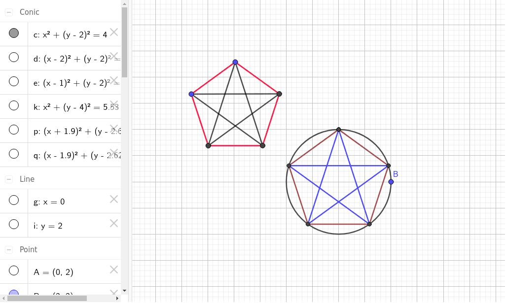 Pentágono con sus diagonales